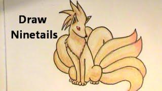 NINETAILS Draw the LUXURIOUS Pokemon No. 038 Tutorial