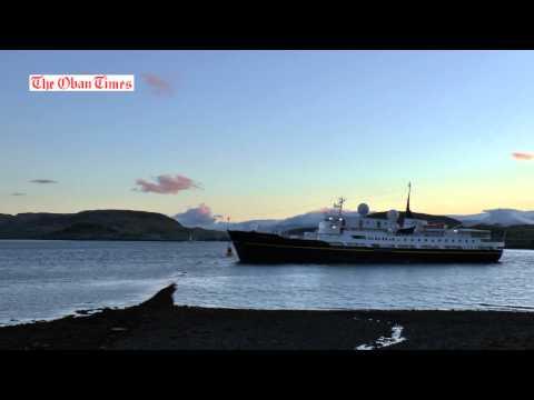 Serenissima aground in Oban Bay