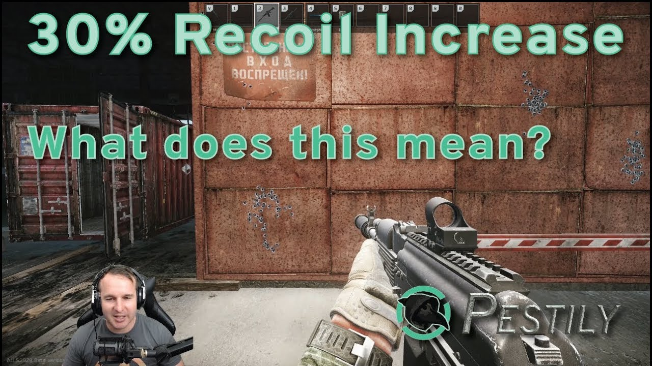 30% Recoil Increase - How much of a difference is it? - Escape from Tarkov