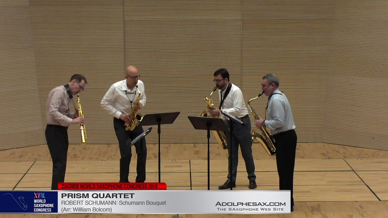 Schumann Bouquet by Robert Schumann  PRISM Quartet   XVIII World Sax Congress 2018 #adolphesax