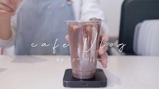 [ENG] cafe vlog # 10 |Cafe Part Timer, owner|NO BGM|most popular cafe drinks in korea|barista