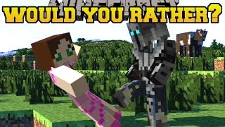 Minecraft: WOULD YOU RATHER? (MORE INSANE QUESTIONS!!) Mini-Game