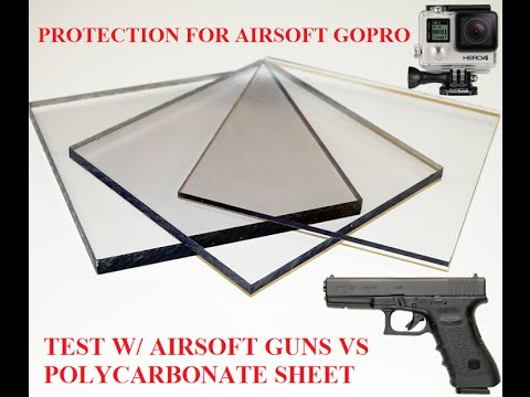GoPro housing protection for airsoft - test of polycarbonate vs airsoft gun