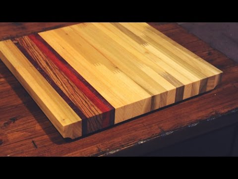 Exotic Inlay Cutting Board from Scraps - YouTube