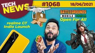 Download BGMI Now Open For All, realme GT India Launch, POCO X3 GT Coming, Swiggy Drones Delivery-#TTN1068