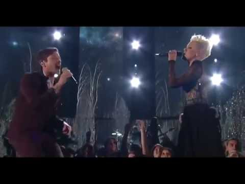 Pink feat Nate Ruess - Just Give Me A Reason  at The 56th Annual Grammy Awards 2014