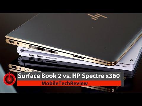 Microsoft Surface Book 2 vs. HP Spectre x360 Comparison Smackdown
