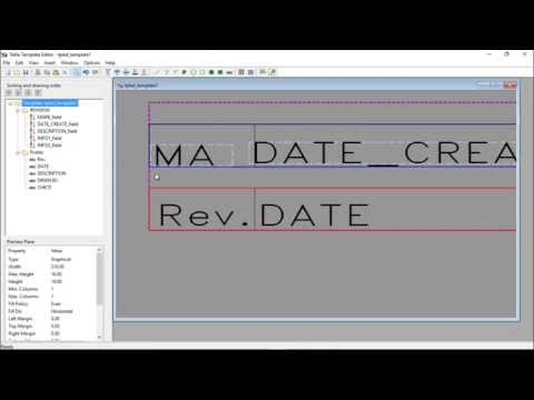 Title Block Template editing Part-1 in Tekla Structures 2016