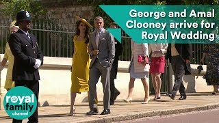 George and Amal Clooney arrive for Royal Wedding 2018 of Prince Harry and Meghan Markle