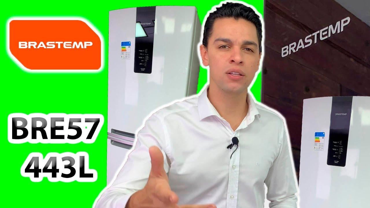 GELADEIRA COM FREEZER EMBAIXO BRASTEMP / REFRIGERADOR BRE57 INVERSE BRANCO REVIEW