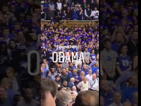 Carson - Obama was at the Duke vs. UNC Game Last Night - I Took Pics and Videos!