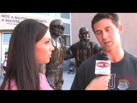 Eric Crouch talks with Micaela Johnson