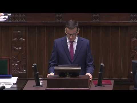 Mateusz Morawiecki – Expose Premiera RP