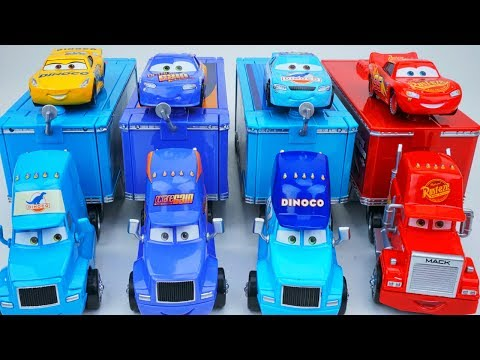 DISNEY CARS 3 HAULERS CRUZ RACES FOR DINOCO CAL WEATHERS FIRED! FLORIDA 500 PISTON CUP RACE FUNNY!