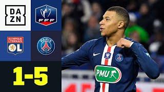 Mbappé-Show bei OL! Lyon geht nach Führung unter: Lyon - PSG 1:5 | Coupe de France | DAZN Highlights