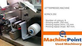 KOPACK 250 Used LETTERPRESSES MACHINES MachinePoint