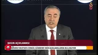 #CANLIYAYIN - Galatasaray Kulübü Başkanı Mustafa Cengiz açıklama yapıyor.