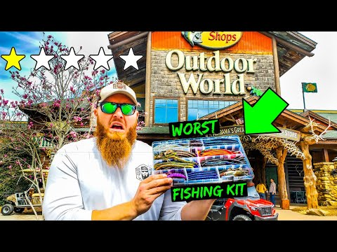 Buying The WORST Fishing Kit In Bass Pro Shops (FREAKOUT!!)