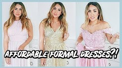 TRYING ON CHEAP FORMAL DRESSES FROM AMAZON! SUCCESS OR FAIL?