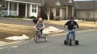 Tricycle Race  3 Wheel Bike  VS  Adult Trike