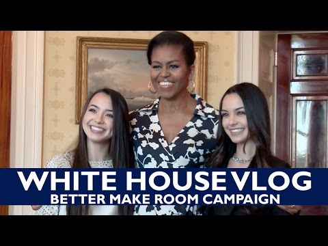 White House VLOG - Better Make Room Campaign - Meeting Michelle Obama - Merrell Twins