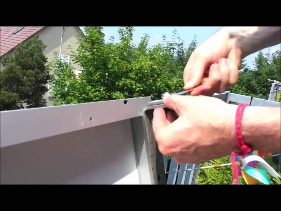installation du panneau solaire au balcon youtube. Black Bedroom Furniture Sets. Home Design Ideas