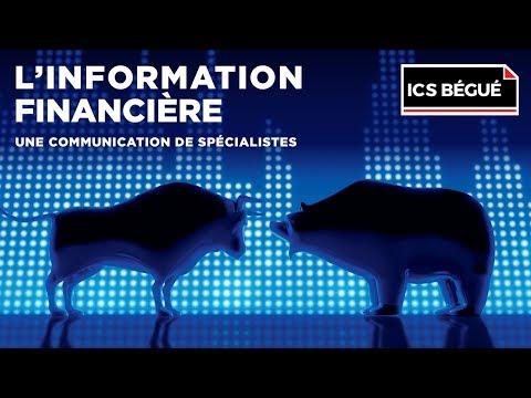 Conférence ICS Bégué : L'information financière, une communication de spécialistes