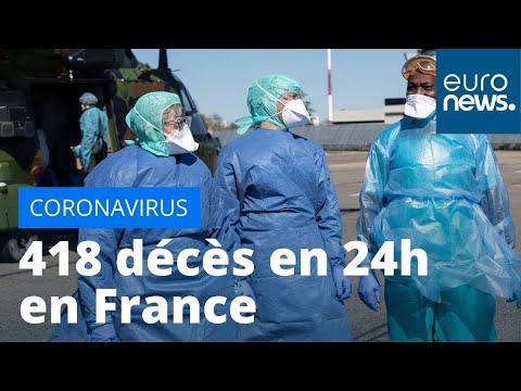 #Coronavirus : 418 décès en France en 24h, plus forte hausse depuis le début de l'épidémie
