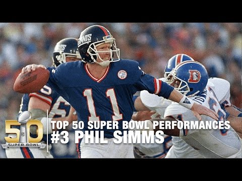 #3: Phil Simms Super Bowl XXI Highlights | Broncos vs. Giants | Top 50 SB Performances