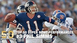 #3: Phil Simms Super Bowl XXI Highlights   Broncos vs. Giants   Top 50 SB Performances