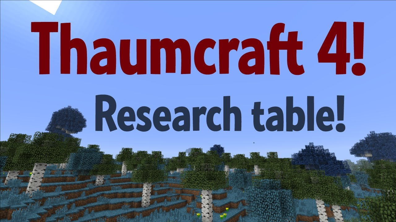 Thaumcraft 4 - Research table!