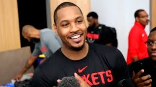 Carmelo Anthony interview after day 1 at training camp | 25.09.2018