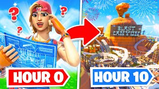 I gave 10 Fortnite players TEN HOURS to build me a THEME PARK...