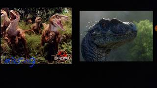 What happened to the tiger striped Velociraptors? (Jurassic park Theory)