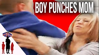 3yr Old Spits in Mom's Face | Supernanny