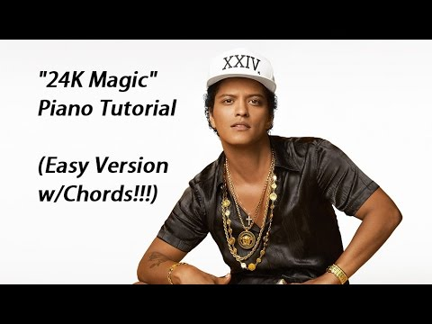 How To Play 24k Magic By Bruno Mars On Piano Youtube