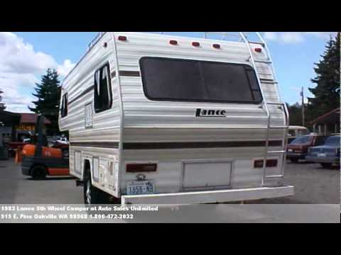 1983 Lance 5th Wheel Camper 2995 At Auto Sales Unlimited