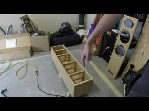 DIY speakers part 1: Glue, Sand, And Wood Seal.