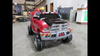 Attleboro Fire Dept. Custom 12V Kid Trax