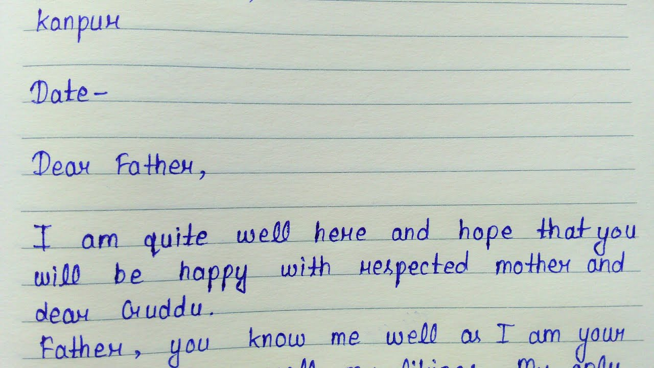 Write a letter to father telling him about your future plan  Informal  letter