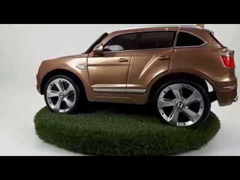 Kinder Elektrische Auto Bentley Bentayga 12v Brons Youtube
