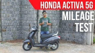 2018 Honda Activa 5G Mileage Test & Review