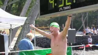 2008 Ultraman 6.2 MIle Swim Finish