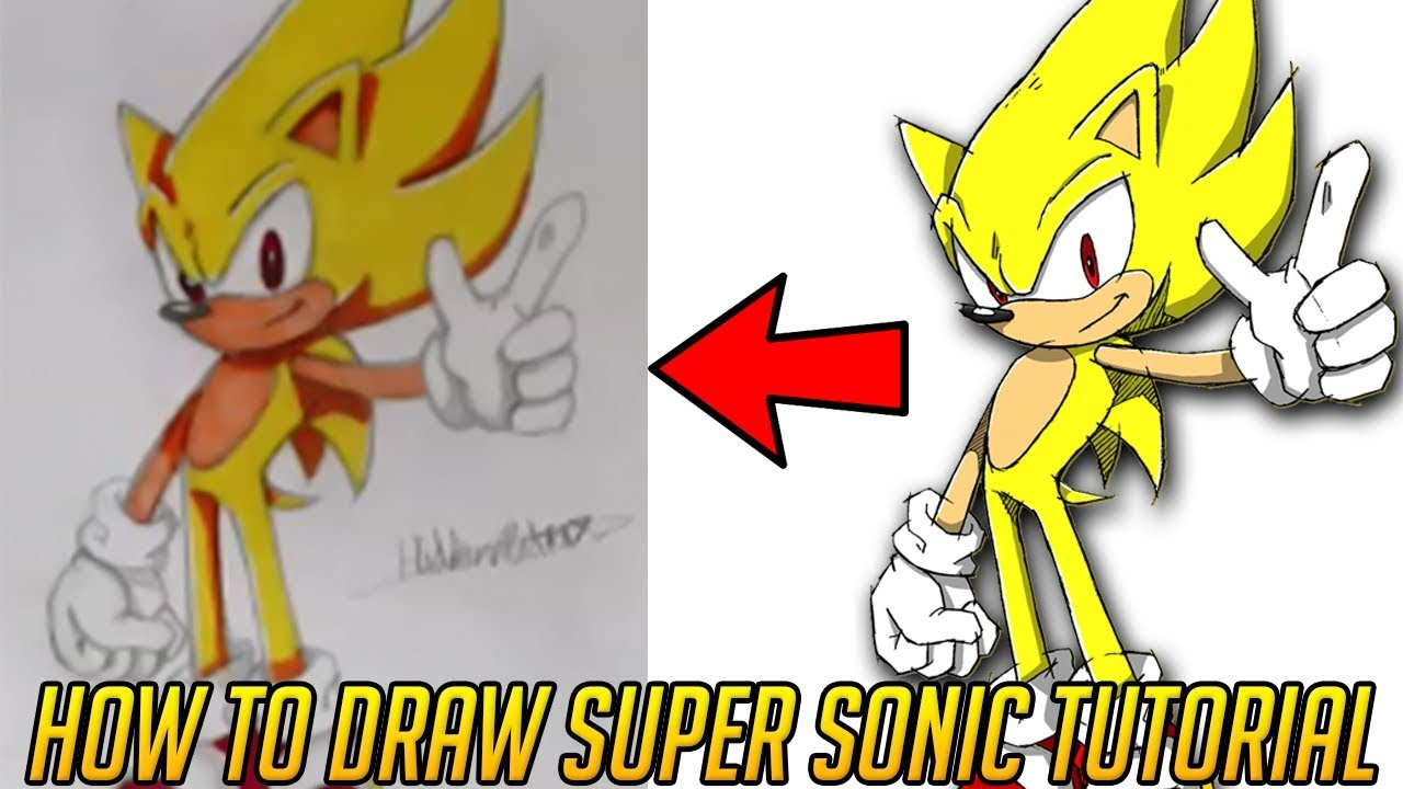 How To Draw Sonic Speed Art Tutorial Super Sonic Youtube