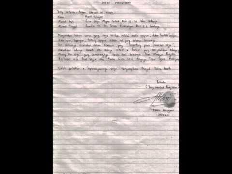 Surat Pernyataan yang menyatakan bahwa Saya adalah Moerti Rahajani