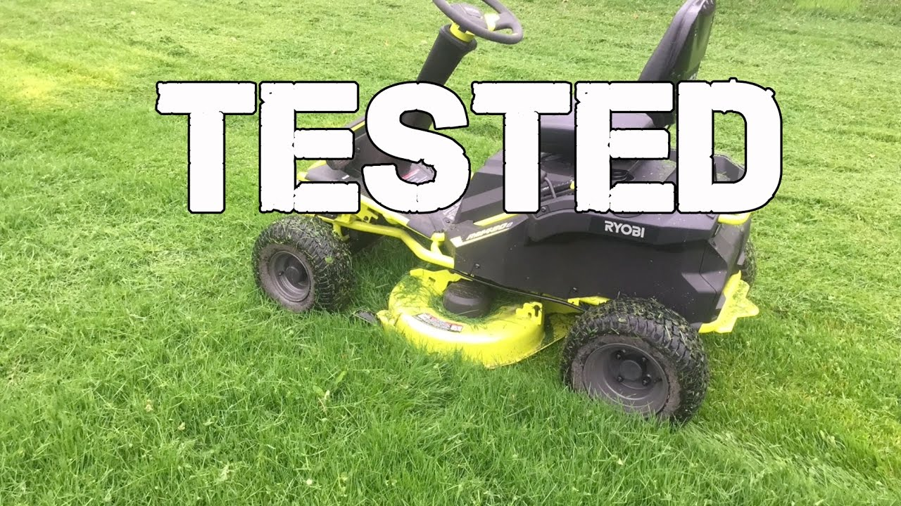 Ryobi Rm480e Electric Riding Mower In Action Youtube
