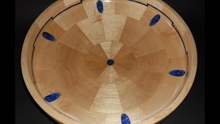 Segmented Maple And Acrylic Fruit Bowl