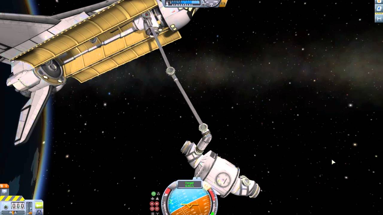 Ksp Stock Iss Assembly - Unity Docking With Canadarm