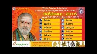 Weekly Rasi Phalalu 2016 April 10th   April  16th 2016