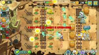 Plants and Zombies 2- Eletro + Perl nut VS Zombies cowboy